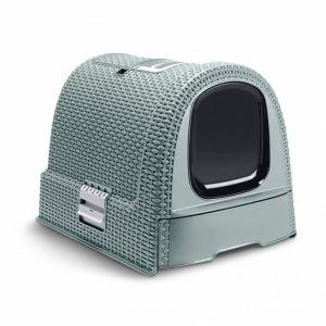 Curver Maison de toilette - Bleu gris - Pour chat