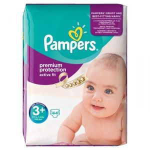 Pampers Active Fit taille 3+ Midi Plus 5-10 kg - Géant 44 couches
