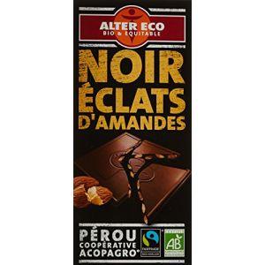 Alter Eco Chocolat noir amandes éclats croquants bio, coopérative el ceibo, Bolivie,