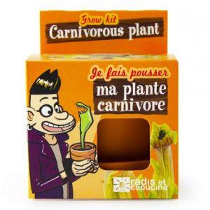 Radis et capucine Graine de Plante Carnivore en Pot de Culture pour Enfant Multicolore 10 x 8 x 8 cm