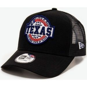 New era Texas A Frame Adjustable Trucker Cap USA Patch Black - One-Size