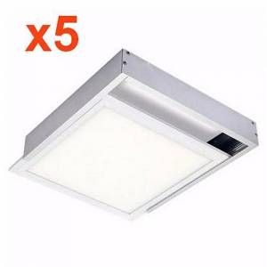 Silamp Kit en Saillie ALU pour Dalle LED 60x60 Slim (Pack de 5)