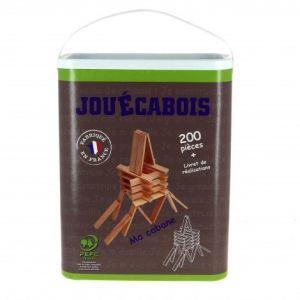 Jouecabois Baril de de 200 planchettes en bois