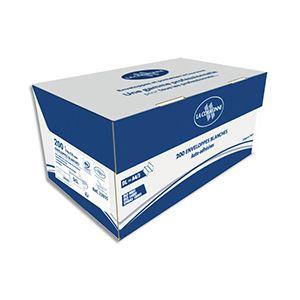 La couronne Enveloppe 110 x 220 mm 90 g sans fenêtre blanche - Boîte de 200