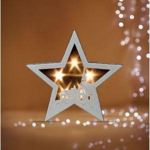 Féérie Lights&Christmas Etoile lumineuse Noël - 21,5 x 5 x 21 cm - Blanc