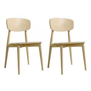 """TemaHome Lot de 2 Chaises Design """"Sally"""" 87cm Chêne"""
