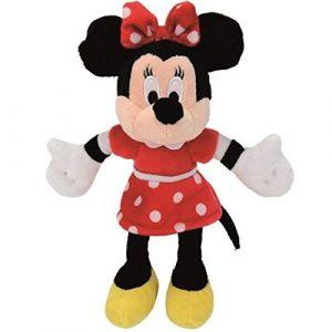 Simba Toys Peluche Disney Minnie robe rouge 20 cm