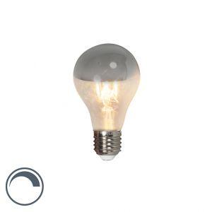 Calex Ampoule standard à coupole argentée LED filament 4W (remplace 40W) à grand culot E27