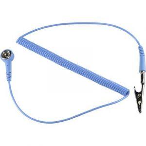 Tru Components Câble de mise à la terre antistatique (ESD) SpKL-4-244-SK 1364528 2.44 m 1 pc(s)