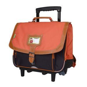 Tann's Iconic 38 cm CP/CE1 Gris/Orange - Cartable à roulettes
