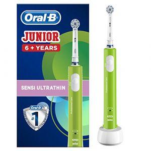 Oral-B Junior Brosse à Dents Électrique Rechargeable pour Enfants de 6Ans/Plus Verte