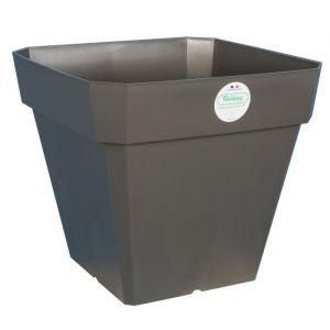 Riviera Pot carré Soleilla en plastique 49x49x45cm - 65l - Gris pailleté - Pot de fleur Soleilla carré en plastique - Dimensions : 49x49x45cm - Contenance : 65l - Gris pailleté.