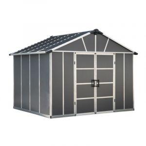Palram Abri de jardin YUKON 11X9 gris anthracite - 7,9m² sans plancher