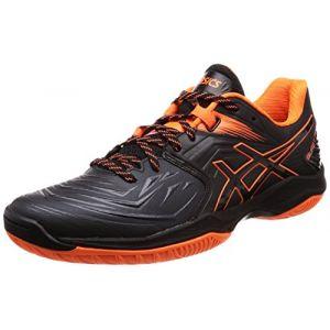 Asics Blast FF, Chaussures de Handball Homme, Noir (Black/Shocking Orange 001), 44 EU