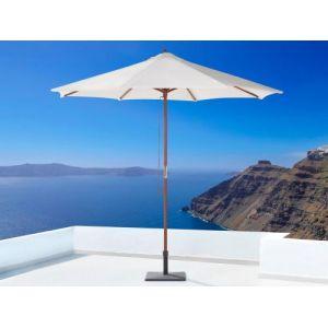 Beliani Parasol en bois - toile beige sans lambrequin - Toscana