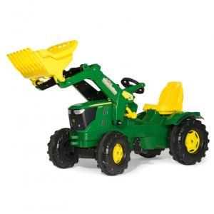 Rolly Toys Tracteur à pédales avec chargeur John Deere 6210 R