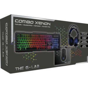 The g-lab COMBO Xenon - Clavier + souris optique + tapis + casque filaire