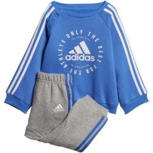 Adidas Combinaisons enfant I 3S JOGG FL TUTA CELESTE E GRIGIA bleu - Taille 12 / 18 mois,18 / 24 mois,9 / 12 mois,2 / 3 ans,3 / 4 ans