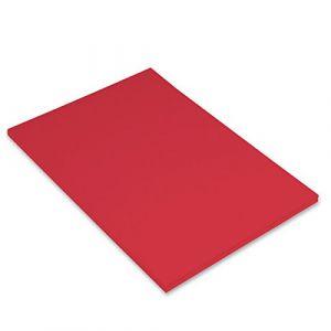 Canson Iris Vivaldi Papier couleur A4 Lisse 185g/m² 21 x 29,7 cm Tomate Lot de 50