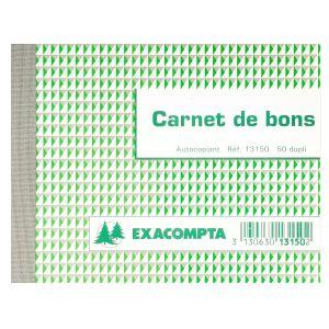 Exacompta 13150E - Manifold Bon pour, 10,5x13,5 50 dupli autocopiant