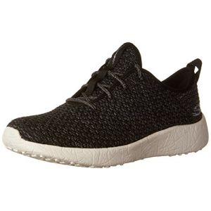 Skechers Burst, Sneakers Basses Femme, Noir (BKW), 39 EU