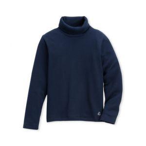 Petit Bateau 14554 - Pull - Manches longues - Enfant Mixte - Bleu (Abysse 13) - Taille: 8 ans