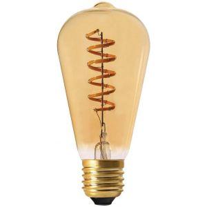 Declikdeco Ampoule longue ambrée avec spirale LED 14.2 cm
