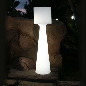 New Garden GRACE-Lampadaire d'extérieur LED RGB rechargeable H170cm Blanc