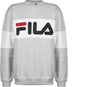FILA STRAIGHT BLOCKED CREW SWEAT - NOIR - homme - SWEAT SHIRT