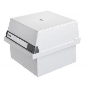 Han 965-11 - Bac à fiches A5, avec couvercle amovible, pour 800 fiches, coloris gris clair