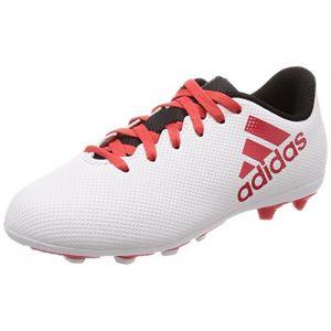 Adidas X 17.4 FxG, Chaussures de Football Mixte Enfant, Gris Grey/Reacor/Cblack, 36 EU