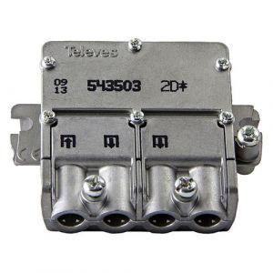 Televes F3155435 Satellite Splitter Connecteur F 4.4 Db / 5-2400 Mhz - 2 sorties