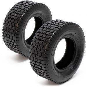 wiltec Lot 2 pneus Tondeuse autoportée 13x5.00-6 Enveloppe Roue Profil pneu crampon