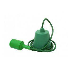 Ecolife Suspension E27 - Câble textile Déco douille Vert Impérial -