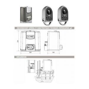 Somfy Automatisme Motorisation portail coulissant ELIXO 500 3S 24V pack standard RTS - 1216363.