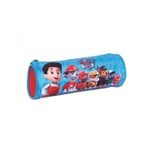 Trousse scolaire cylindrique deluxe bleu rouge Pat'Patrouille