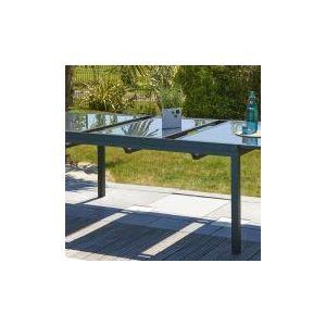 DCB Garden Miami - Table de jardin avec allonge tout aluminium 180 ...