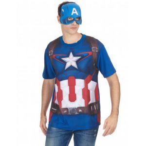T-Shirt et masque adulte Captain America movie 2