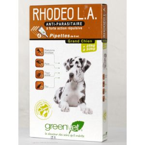 GreenVet Rhodeo L.A. grand chien 25 à 50 kg - 4 pipettes