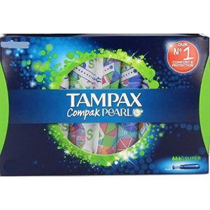 Tampax Compak tampon pearl super / boîtes de 24