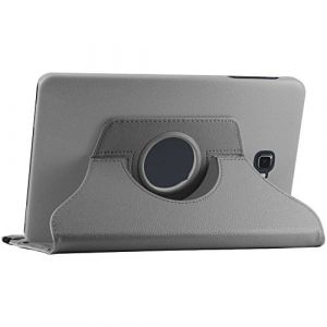 EbestStar Housse Coque Etui Pu Cuir Rotatif Avec Support À Rotation 360° + Film, Couleur Gris Pour Samsung Galaxy Tab A 2016 10.1 T580 T585