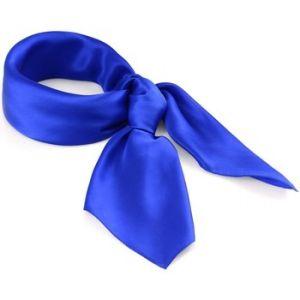 Allée du foulard Carré de soie Premium Uni Bleu gitane