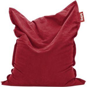Fatboy Pouf The Original Stonewashed / Coton doux L 180 cm x l 140 cm rouge en tissu