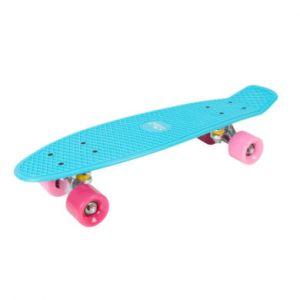Hudora Skateboard enfant Skate Wonders rétro, bleu