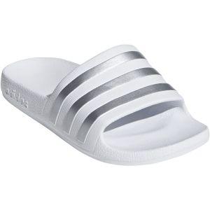 Adidas ADILETTE AQUA K - BLANC - enfant - SANDALES