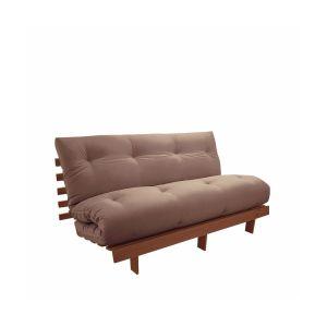 Matelas futon Latex laine lin pour banquette THAÏ Marron Taupe Taille 90x190 cm;140x190 cm;160x200 cm