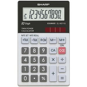 Sharp EL-W211GGY - Calculatrice de poche