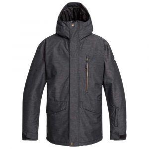 Quiksilver Mission Veste Homme, black XL Vestes de pluie