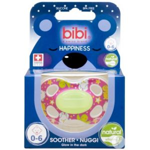 Bibi Happiness dental Glow in the dark sucette 0-6