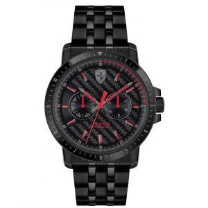 Scuderia Ferrari : Montre Montres 830454 - Montre Multifonctions Quartz Acier Noir Homme
